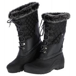 Bottes d'hiver chaudes et imperméables noir
