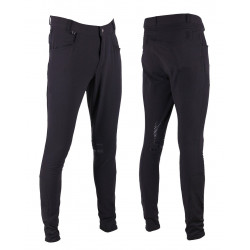 Pantalon d'équitation Luc Homme antidérapant noir