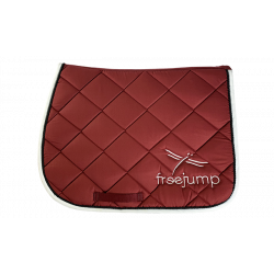 Tapis de selle Freejump Standard L bordeaux/noir