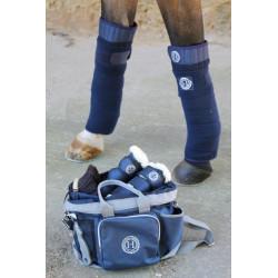 Harcour - Cornet Bandes de polo avec velcro x4 marine