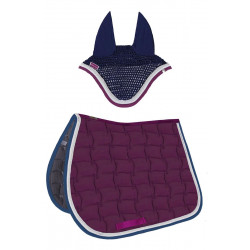 Pack Tapis de selle Selwyn et bonnet Barkly bordeaux