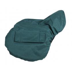Protection de selle imperméable verte - QHP