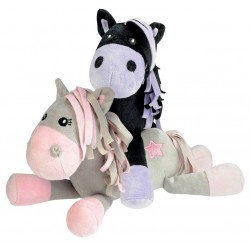 "Peluche poney ""white star""..."